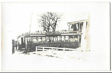 Hartford & Springfield Tram no 22, Derailed & Crashed in house, RP PPC, Unposted