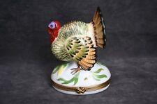 Authentic Limoges Rochard Large Turkey Trinket Box