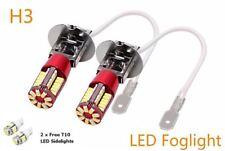H3 LED 57 LED 6000K (453) UPGRADE HID 12V T10 LED SIDELIGHTS
