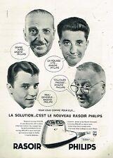 D- Publicité Advertising 1959 La Solution c'est le nouveau rasoir Philips
