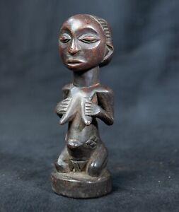 Bembe Miniature Female Ancestor Statue, D.R. Congo, Zambia, African Tribal Art