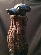 Brown/Gold/Green Italian Greyhound Dog Snood 2 wear w/ dog coat *100% Donation