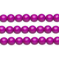 Wood Round Beads Dark Purple 8mm 16 Inch Strand