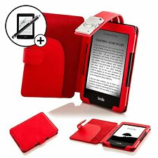 Forefront Cases Red Smart Case with Light Amazon Kindle (2014) Scrn Prot Stylus
