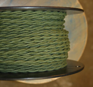 Cloth Covered 2-wire Twisted Pair Cord, Braided in USA, 22 Colors, Per foot