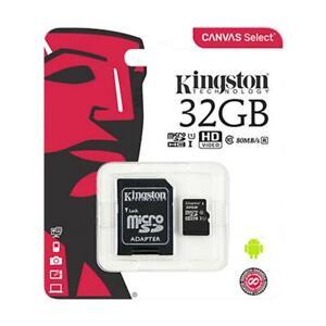 Kingston Micro SD Card SDHC SDXC Memory Card Class 10 32GB 64GB 128GB & Adapter