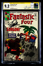 FANTASTIC FOUR #44 (1965) CGC 9.2 SS Near Mint Minus signed by Writer STAN LEE!!