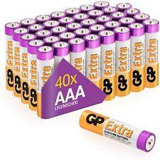 Pilas Alcalinas AAA 1,5V LR03 GP 40 unidades NUEVO envio gratis