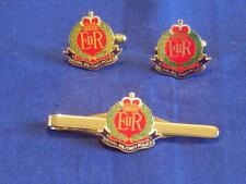 ROYAL MILITARY POLICE ( RMP ) CUFF LINKS AND TIE GRIP / CLIP GIFT SET