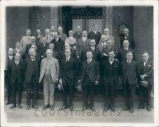 1925 US Secretary Agriculture William Jardine w Intl Cotton Experts Press Photo