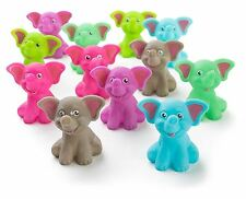 "12 Pack Squirting Bath Toys 2"" Rubber Elephant Squirts Baby and Children Toys in"