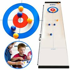 Elite Sportz Tabletop Curling Game for Families. Adults vs The Kids in this Fun