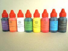 Eopxy resin polyurethane resin color pigments colorants liquid set of  8 colors