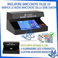RILEVATORE BANCONOTE FALSE € EURO MONEY DETECTOR UV MG SERIE EUROPA LAMPADA UV