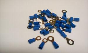 40 Kabelringschuhe blau, M 5/ M 6 bis.2,5 mm² für Kfz++++