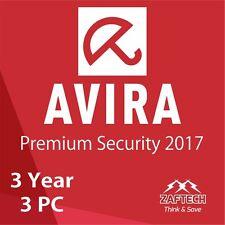 Miglior Antiviurs,Avira Pro 2017 Premium Di sicurezza 3 anni 3 PZ Codice Licenza
