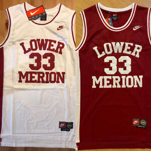 Kobe Bryant #33 Lower Merion High School Men's Basketball Red/White Sewn Jersey