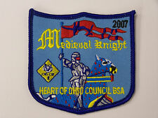 Boy/Cub Scouts (BSA) 2007 MEDIEVAL KNIGHT HEART OF OHIO COUNCIL PATCH (Blue)