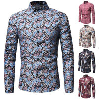 Luxury Men's Slim Fit Shirt Long Sleeve Stylish Formal Casual T-shirt Tops
