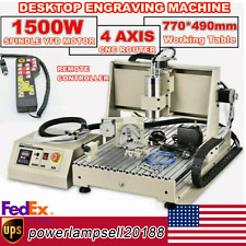 New Listingusb 4axis 15kw Cnc 6040z Router Engraving Wood Drillmilling Machinecontroller