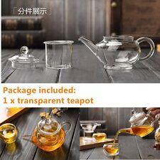 Heat Resistan Glass Teapot With Infuser Coffee Tea Leaf Herbal Pot 250ml TOP