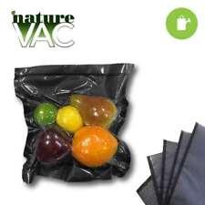 NatureVAC 11 in.x24 in. Precut Vacuum Seal Bags CLEAR/BLACK  FULL CASE (300 pcs)