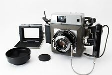 [Exc+++] Mamiya Press w/ 90mm, Hood, 6x4.5 6x6 6x9 Roll Film Holder, Grip Japan