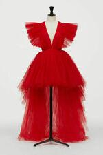 BNWT GIAMBATTISTA VALLI x H&M Red Layered Long Tulle Dress Gown EUR 38 42
