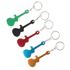 Guitar Bottle Opener Keychain Aluminum Alloy Beer Opener Key Rings for GYJCR