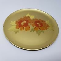 Hand Crafted Otagiri Original Japanese Decor Plate Gold Flower Gold Leaf Plastic