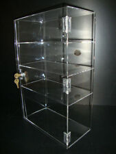 "Acrylic Countertop Display Case 12"" x 6"" x 19"" Locking Security Show Case Safe B"