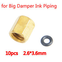 10PCS Copper Screw with O-ring for Epson DX4 DX5 Big Damper Ink Piping 2.6*3.6mm
