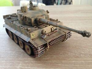 Built airbrushed 1/48 Tiger 1 Tank S33 2nd SS Panzer Division Kursk gun fixed...