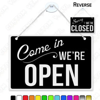 OPEN AND CLOSED DOUBLE SIDED 6-MM RIGID HANGING SIGN Waterproof