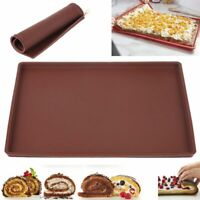 Silicone Dishes Pastry Baking Tray Oven Rolling Kitchen Bakeware Mat Food Sheet