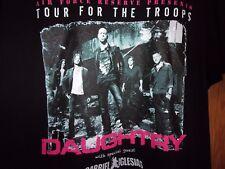 Daughtry Gabriel Iglesias tour 4 Troops black 2011 kuwait qatar turkey XL tee