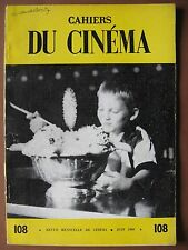 CAHIERS DU CINEMA  n° 108