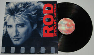 Germany Pressing ROD STEWART Camouflage LP Record