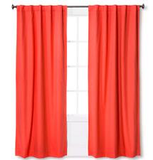 """Pillowfort Twill Light Blocking Curtain Panel Melon  (42""""x84"""")"""