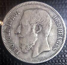 BELGIQUE 2 FRANCS 1867 LÉOPOLD II LÉGENDE FRANÇAISE