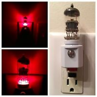 12AX7 Style Vacuum Tube Red LED Night Light Ham Radio TV Guitar Amplifier