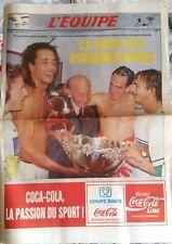 L'Equipe Journal du 3/12/1991; Noah, la saga des mousquetaires en coupe Davis