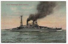 USS SOUTH CAROLINA PC Postcard BATTLESHIP BB-11 Navy NAVAL USN Military SHIP War