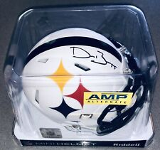 Devin Bush Signed Pittsburgh Steelers Autographed NFL AMP Mini-Helmet JSA & TSE