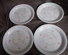 "Set of 4 Corelle Corning  PROMENADE 8 1/2"" Luncheon Salad Sandwich Plates Geese"
