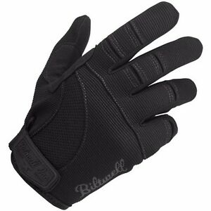 NEW BILTWELL MOTO BLACK MOTORCYCLE GLOVES HARLEY CRUISER VICTORY BOBBER ALL SIZE