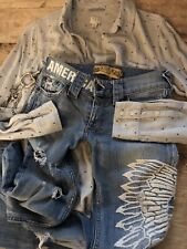 ALLEN B VINTAGE JEANS SZ 26 DISTRESSED AMERICA SEXY AS SIN!