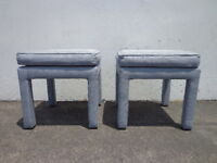 2 Stools Bench Bed Pair of Ottoman Parsons Benches Seating Chair Hassock Bench