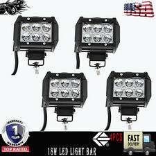 4PC Marine Led Lights for boats Spreader Mast 18W Cree White Deck Pontoon Spot