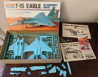 Vintage 1/72 Monogram F-15 Eagle Fighter USAF Plastic Model Kit #7580 1974